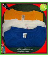 NEW  junior 3 LONG T SHIRT TOPS  ATHLETIC SPORT COTTON KNIT  SMALL - $14.59