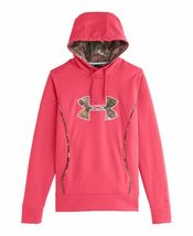 NEW UNDER ARMOUR WOMEN'S STORM CALIBER SPORT GYM WORK OUT HOODIE CERISE PINK image 3