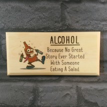 Alcohol Plaque / Sign / Gift - Salad Shed Pub Bar Garage Dad Uncle Funny... - $11.20