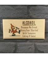 Alcohol Plaque / Sign / Gift - Salad Shed Pub Bar Garage Dad Uncle Funny... - $11.20