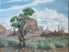 Monument Valley National Park Original Oil Painting by Irene Livermore  - $300.00