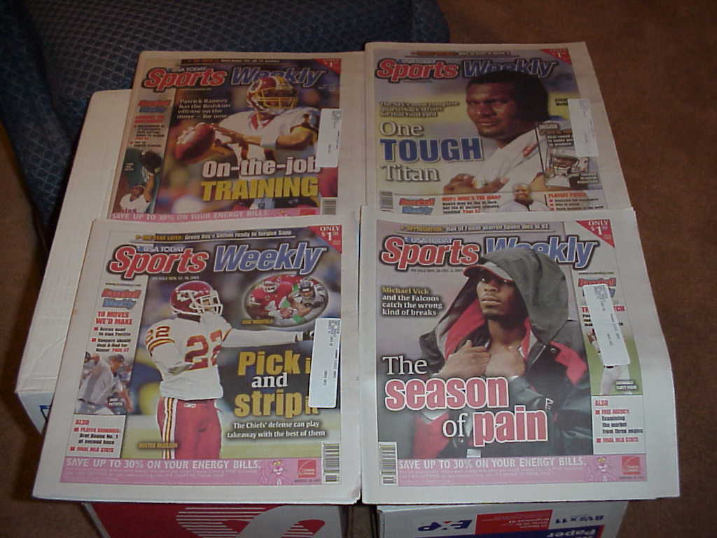 Sports Weekly   57 Issues       2001,2003,2004
