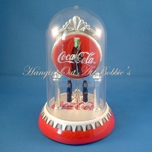Coca Cola Clock Revolving Bottle Pendulum Dome Cover New Unused - $29.99