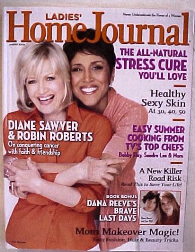 Primary image for LADIES HOME JOURNAL-AUGUST 2008-DIANE SAWYER AND ROBIN ROBERTS-CONQUERING CANCER