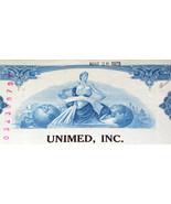 Unimed Inc. Stock Certificate 1960-70's - €8,04 EUR