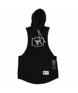 Under Armour Project Rock Sleeveless Hoodie Shirt Black Gym Shirt 134726... - $49.99