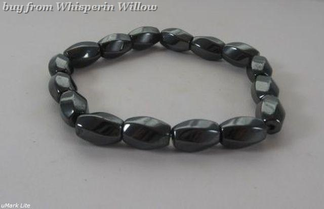 Magnetic Hematite Swirl Fashion Bracelet