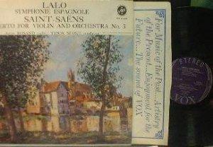 Aaron Rosand - LALO Symphonie Espagnole - VOX STPL 511.590