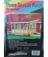 Pattern 6 sizes Three Season Porch Plans w/ Shed Roof - $9.95