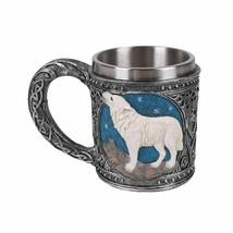 Pacific Giftware Celtic White Wolf Rhinestone Figurine Drinking Mug - $24.74