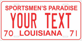 Louisiana 1970 License Plate Personalized Custom Car Bike Motorcycle Mop... - $10.99+