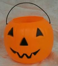 General Foam Plastic Blow Mold Pumpkin Pail Halloween Bucket Jack-O-Lantern - $9.89
