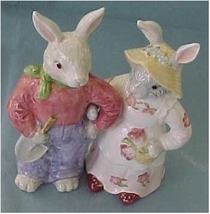 S/P Bunny Couple are Arm in Arm For Now - $20.00