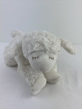 "Baby GUND Winky Lamb Stuffed Animal Plush with Rattle inside White 9"" Lo... - $10.88"