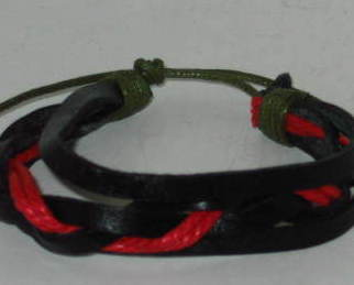 Punk Goth Leather Bracelet Wristband - Gift