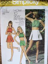 Vintage 70s Pattern Womans 12 HalterTop Short Shorts S5582 - $7.95