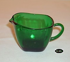 Forest Green Charm Creamer Anchor Hocking - $5.75