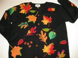 Sweater Fall Leaves Talbots Small - $29.00
