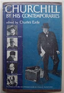 1954 (Winston) Churchill by His Contempories, HC DJ Book Historic Events
