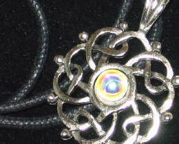 Pewter Celtic Completion Amulet / Pendant Necklace