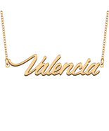 Valencia Name Necklace for Best Friends Family Girl Friend Birthday Gifts - $13.99+