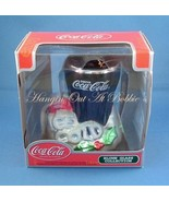 Coca Cola Blown Glass Christmas Ornament Drink Glass 2002  - $12.99
