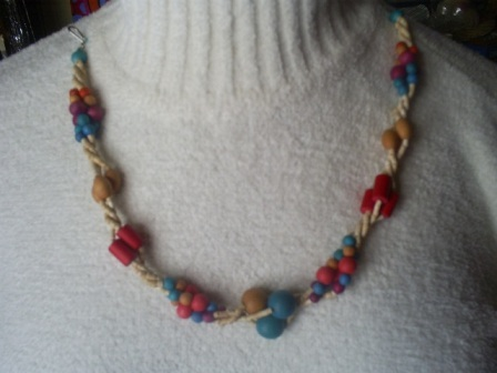 "Primary image for Vintage Multi-Strand, Multi Color Necklace, 16"" Long"