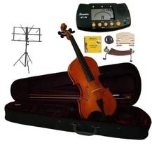 1/4 Size Violin,Case,Bow,Strings,Rosin,2 Bridges,Tuner,Shoulder Rest,Stand,Mute - $60.00