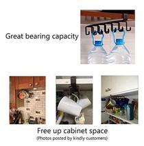 12-Hook Iron Under Cabinet Mug Hanger Brown image 5