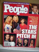 People Magazine October 2001 The Stars Pitch in  - $9.99
