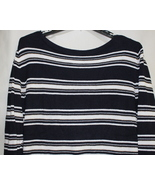 Women's East 5th Long Sleeve XL Black & White Gold Stripe Sweater - $12.95