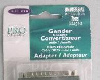 Gender Changer DB25 BELKIN Pro Series Male Male Adaptor Cable