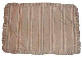 Pottery Barn Beige Ivory & Tan Stripe Ruffled L... - $34.97