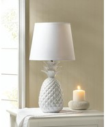 "WHITE PINEAPPLE Table Lamp 19"" Indoor Lighting - $38.89"