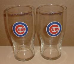 2 Chicago Cubs MLB Baseball Team Logo 2006 Bud Light Beer 16 oz Glasses Tumblers - $29.99