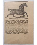 1917 Thoroughbred Race Horses Auction Foster's Yards Ad - $3.00