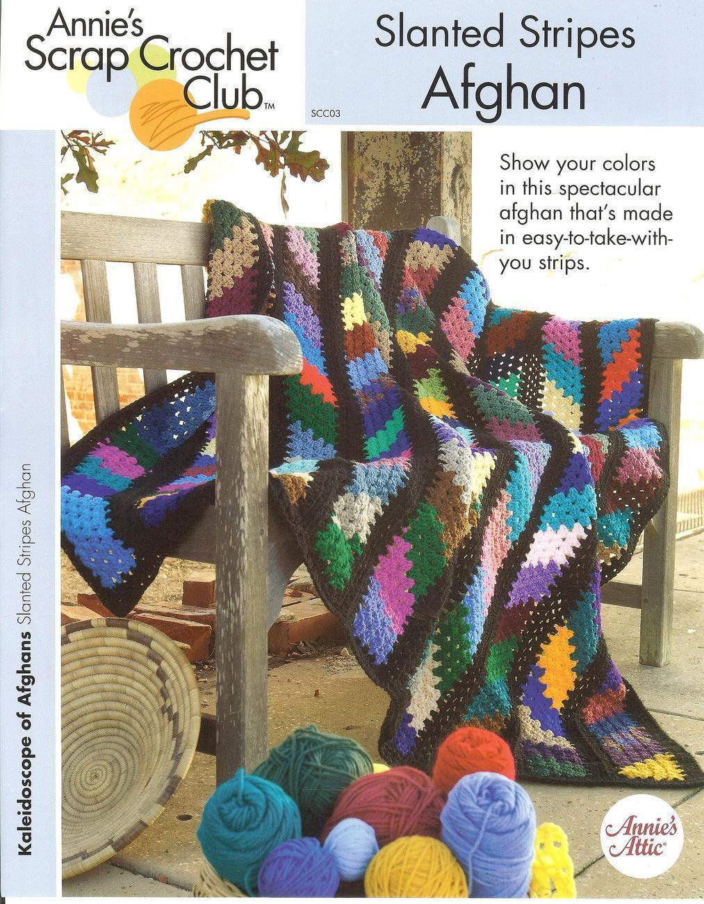 Annie S Culinary Creations Part 2: ANNIE'S SLANTED STRIPES AFGHAN CROCHET PATTERN