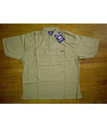 Wu Wear Tang Clan Hip Hop Urban Military Brown Button Front Up Down Shir... - $49.99