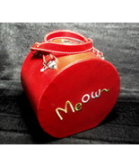Travel Food and Water Bowls for Cat Meow Red Pe... - $19.99