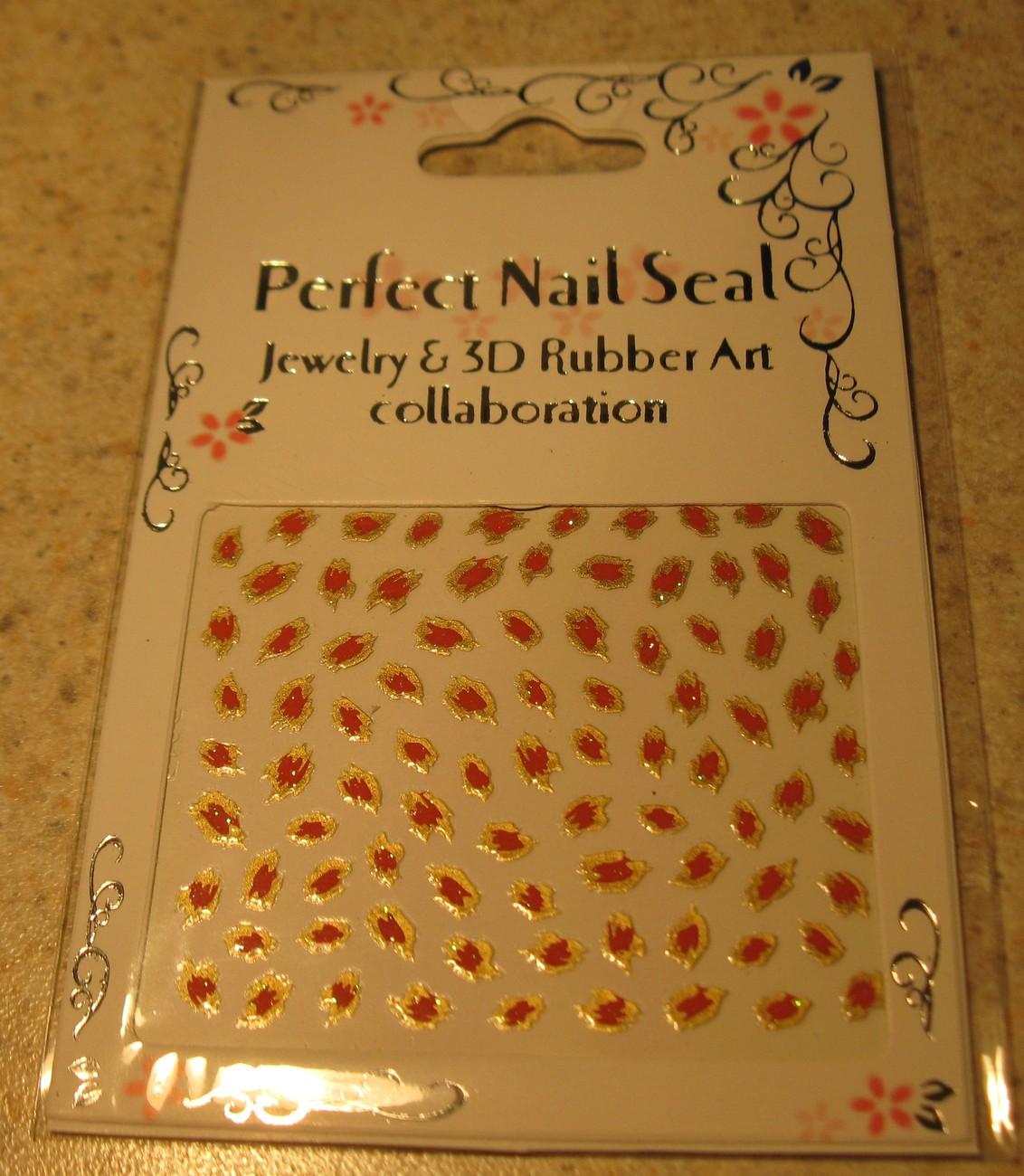 122 orange nail decal