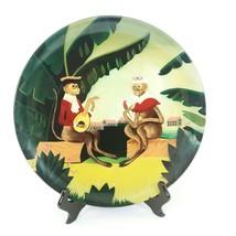 """Decorative Plate Golden Monkey Colonial Decor Colorful Vintage Decor 12"""" - $23.72"""