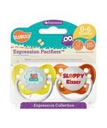 Ulubulu Pacifier Set - Unisex - No Hablo & Sloppy Kisser - 0-6 month - 2... - $12.99
