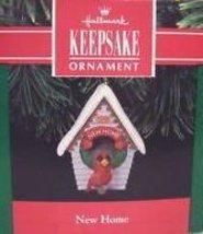 Hallmark 1991 Ornament NEW HOME - CARDINAL at BIRD HOUSE - $4.94