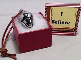 I Believe Polar Silver Acorn Sleigh Bell Express to You From Elf Works Lane