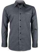 LW Men's Western Button Up Long Sleeve Designer Dress Shirt image 5