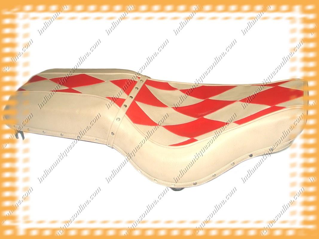 CLASSIC DIAMOND DESIGN ROYAL ENFIELD SADDLE~SEAT~NEW