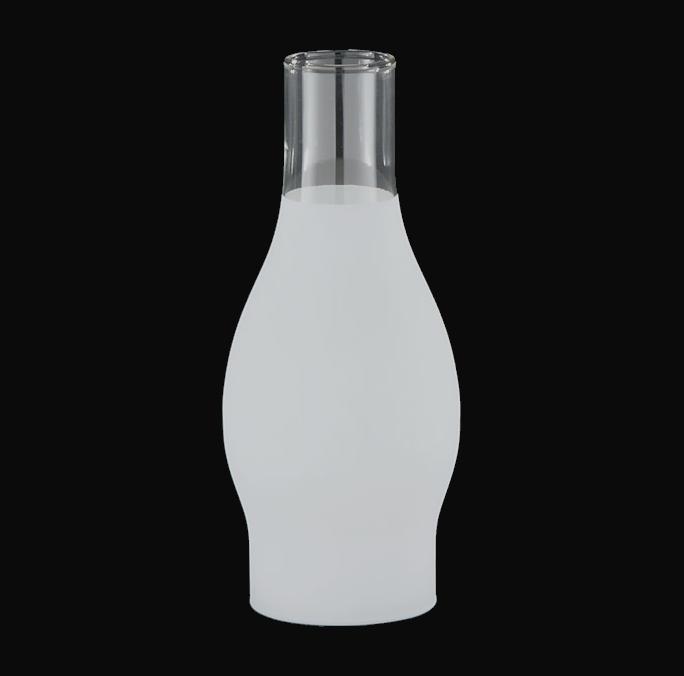 83630bra frosted lamp chimney