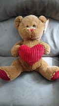 2017 VALENTINE'S DAY Brown Bear w Heart Brand New Plush Stuffed Animal N... - $14.99