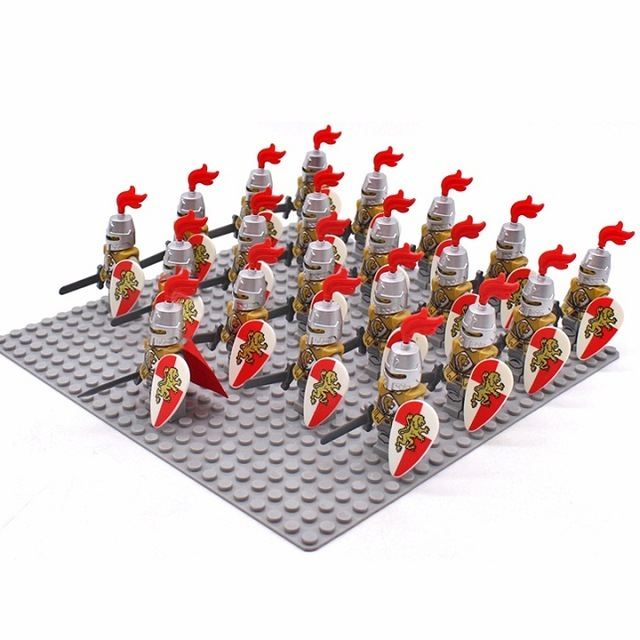 Primary image for 21 Pcs Medieval Lion King Knight Commander With Equipment Fit Lego Block Toys