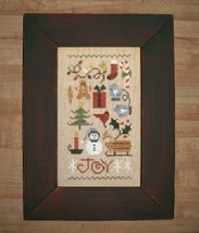 Red-Green Pine Primitive Frame 5.5 x 8.5 opening cross stitch frame  - $15.00